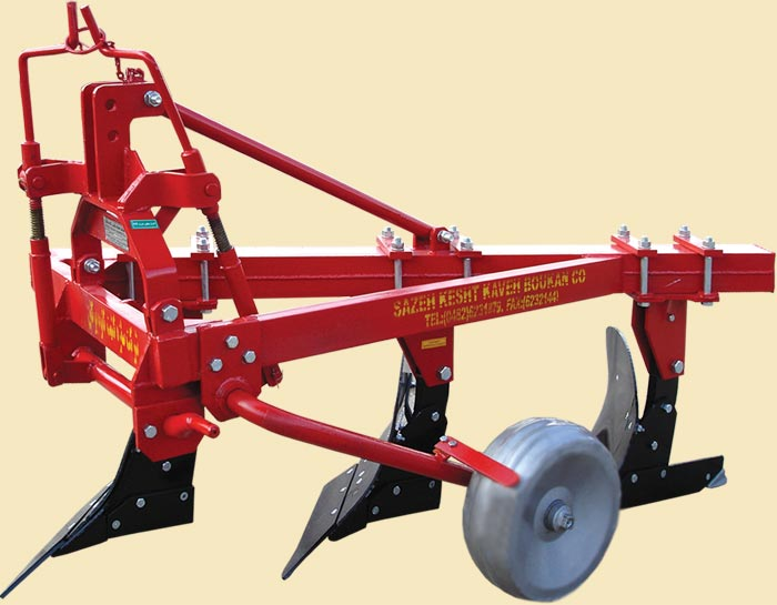 Three furrow wheeled plows, Fort Shirt model